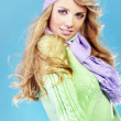 Beautiful fashion winter girl — Foto Stock