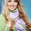 Beautiful fashion winter girl — Stockfoto