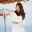 Woman at beach — Stock Photo