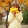 Child in autumn — Stock Photo