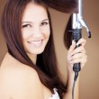 Hair curling — Stock Photo