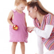 Mother playing with her daughter — Stock Photo #4179985