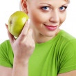 apple azienda verde donna — Foto Stock #4199509