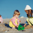 Kids playing at the beach — Stock Photo #4199629