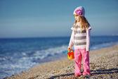 Child at the beach — Stock Photo