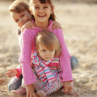 Kids playing at the beach — Stock Photo #4213254