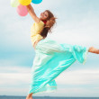Girl with balloons — Stock Photo #4222908