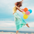 Girl with balloons — Stock Photo #4222910