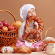Little cute baker — Stock Photo #4222940