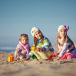 Kids playing at the beach — Stock Photo #4222990