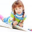 Little girl painting — Stock Photo #4336061