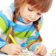 Little girl painting — Stock Photo #4336063