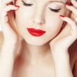 Red lips — Stock Photo