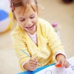 Child painting — Stock Photo #4342730