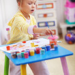 Child painting — Stock Photo #4342735