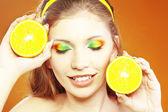 Citrus makeup — Stock Photo