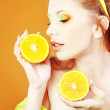 Citrus makeup — Stock Photo #4621476