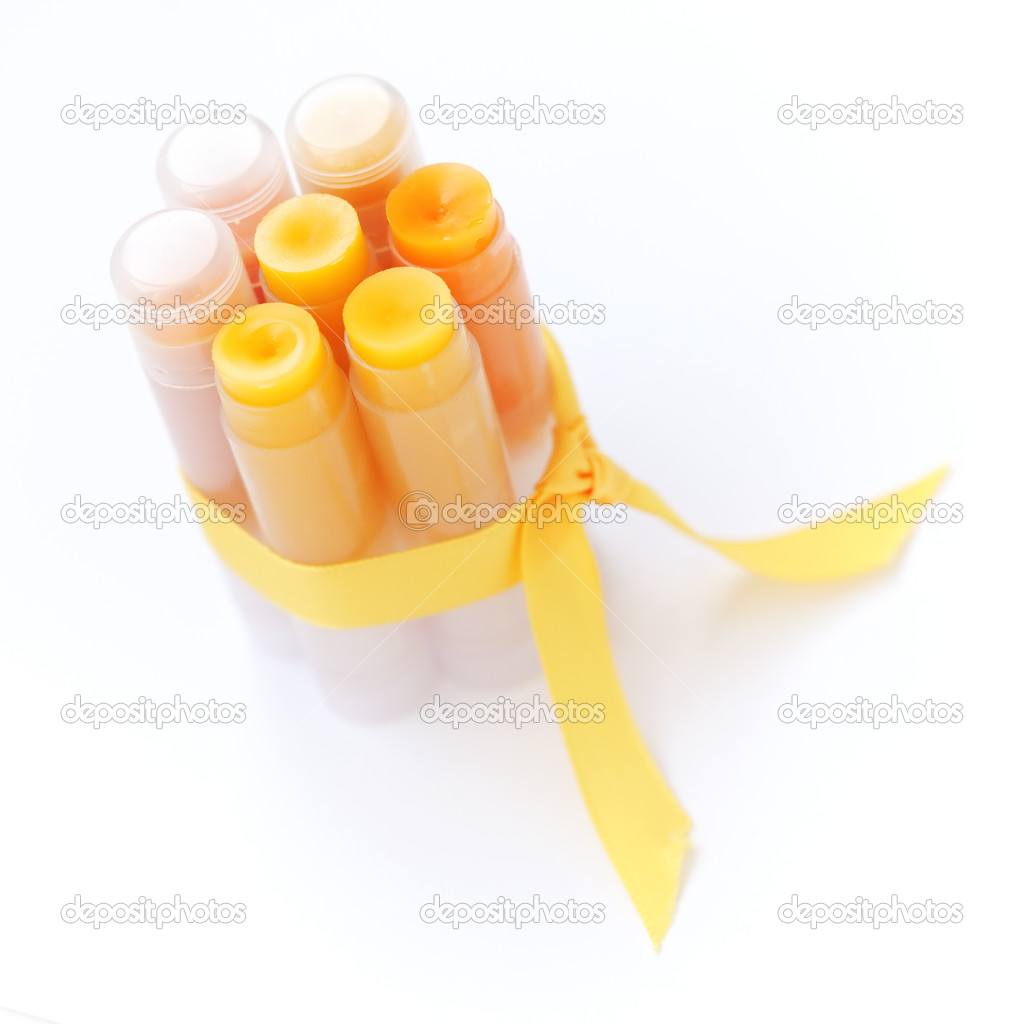 Homemade set of lip balms — Stok fotoğraf #4931614