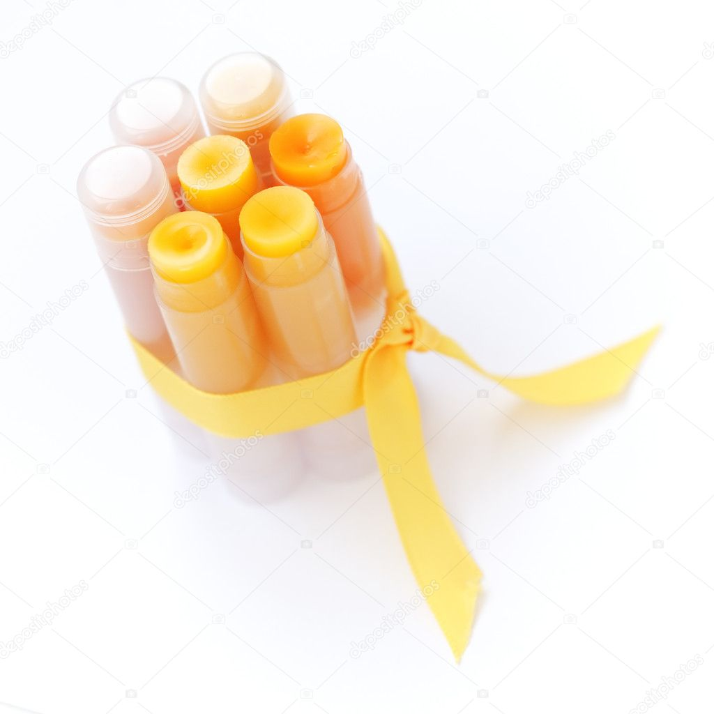Homemade set of lip balms — 图库照片 #4931614