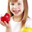 Child with apples — Stock Photo #5060017