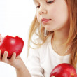 Child with apples — Stock Photo #5060043
