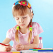 Child painting — Stockfoto