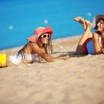 Girls at beach — Stock Photo #5169856