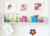 Kids shelf — Stock Photo