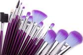 Makeup brushes set — Stock Photo