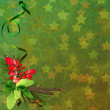 Stock Photo: Green Christmas background