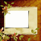 Grunge paper design for information in scrap-booking style — Stock Photo