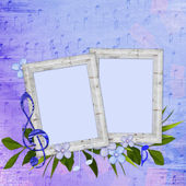 Background with frames — Stock Photo