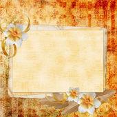 Oud papier op gestructureerde achtergrond — Stockfoto
