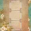 Background with frame and flowers - Stock Photo
