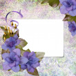 Floral greeting card with place for your text. — Stock Photo