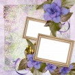 Summer background with frame and flowers — Stock Photo