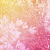 Summer background with flowers — Stock Photo