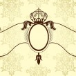 Ribbon with crown in vintage style - Stock Vector