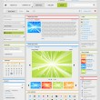 Web design elements set. Part 2. Silver. — Wektor stockowy  #5218947