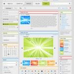 conjunto de elementos de diseño web. parte 2. plata — Vector de stock
