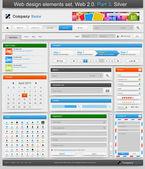 Impostano elementi di web design. 2.0. parte 3. — Vettoriale Stock