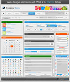 Web design prvky nastavena. 2.0. část 3. — Stock vektor