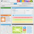 Web design elements set. 2.0. Part 2. — Stockvectorbeeld