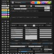 Stock vektor: Web design elements black