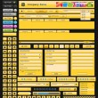Web design elements yellow — ストックベクター #5368785