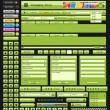 Web design elements green. — Stockvectorbeeld