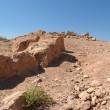 Ruined wall of ancient fortress in desert — Stock Photo #4203800
