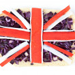 Sandwich with a flag of the Great Britain — Stock Photo