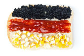 Sandwich with a flag of the Germany — Stock Photo