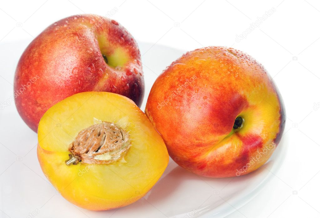 Peaches isolated on white background  — Stock Photo #3927911